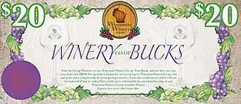 $20 Winery Bucks for Wisconsin wines