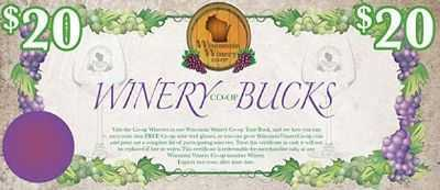Winery Bucks Gift Certificates